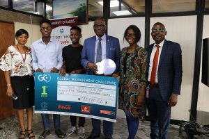 UNILAG's Team Tetra, Winners of 2019 Global Management Challenge Pay Courtesy Call on Management.